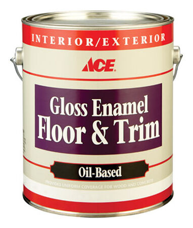 Ace Gloss Enamel Floor and Trim Paint 1 gal. White
