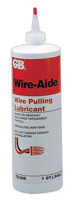 GB Wire-Aide General Purpose Wire Pulling Lubricant 32 oz. Squeeze Bottle