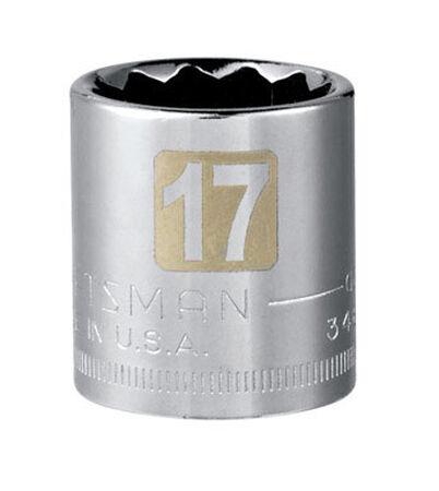 Craftsman 17 Alloy Steel 3/8 in. Drive in. drive Socket Standard