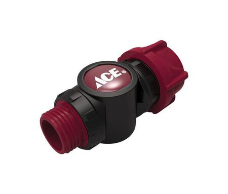 Ace Plastic Swivel Hose Connector Male/Female Threaded