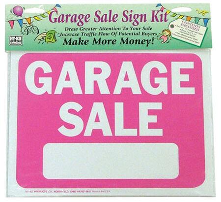 Hy-Ko English 9 in. H x 12 in. W Plastic Sign Kit Garage Sale