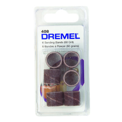 Dremel 0.5 in. Dia. x 0.1 in. Dia. 60 Grit Sander band Aluminum Oxide