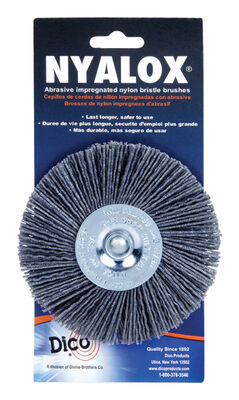 Nyalox Dico 4 in. Dia. Extra Coarse Wire Wheel Brush 2500 rpm