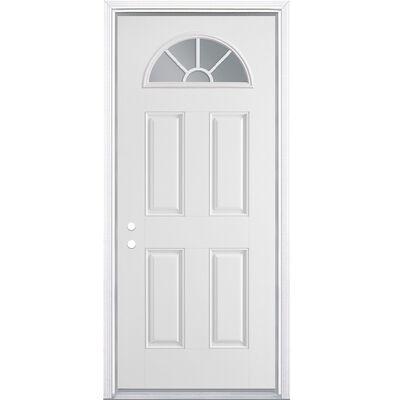 Steel Entry Door Left Hand - 36 in. x 80 inch.