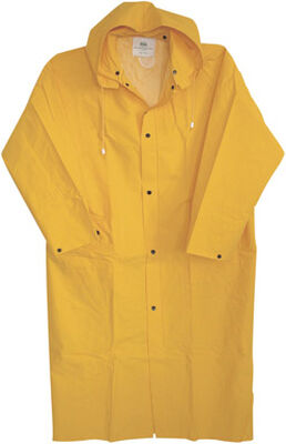 Boss Yellow PVC-Coated Rayon Raincoat Large