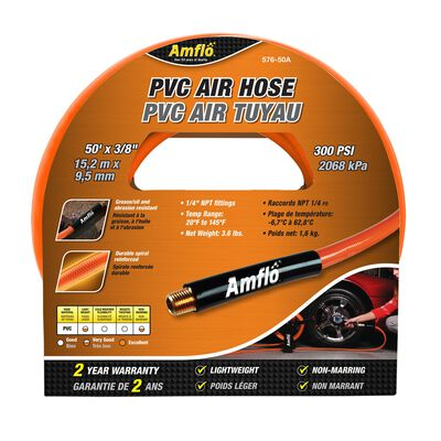 Amflo PVC Air Hose 3/8 in. Dia. x 50 ft. L 300 psi