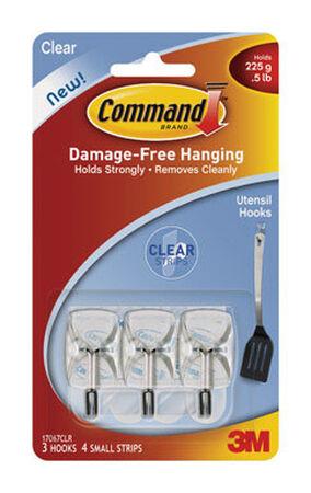 3M Command Small Wire Hook 1-5/8 in. L Plastic 1/2 lb. per Hook 3 pk