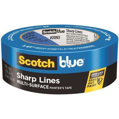 Scotch Edge Lock 1.41 in. W x 60 yd. L General Purpose Painter's Tape Medium Strength Blue 1 p