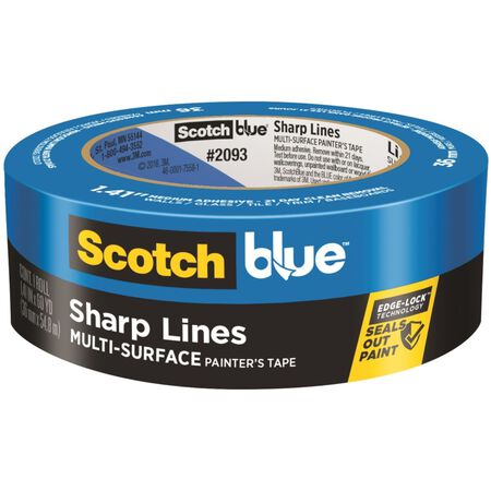 Scotch Edge Lock 1.41 in. W x 60 yd. L General Purpose Painter's Tape Medium Strength Blue 1 p