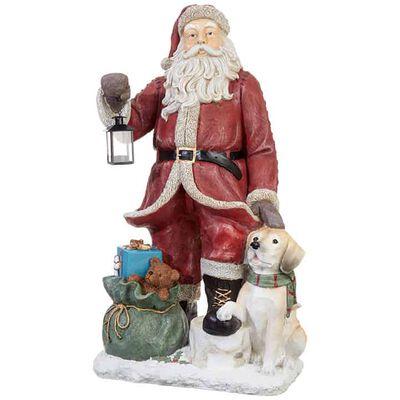 "36.5"" Santa with Dog"