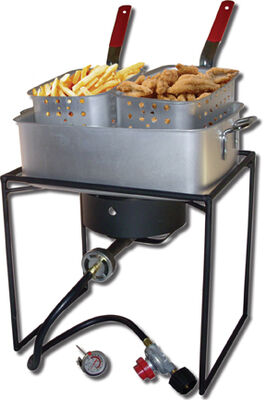 Rectangular Outdoor Cooker Package