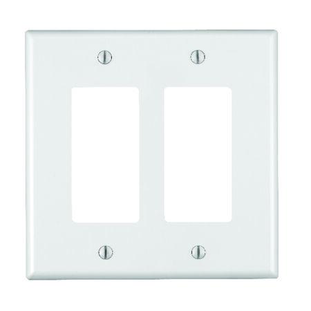 Leviton 2 gang White Nylon Rocker/GFCI Midsize Wall Plate 1 pk