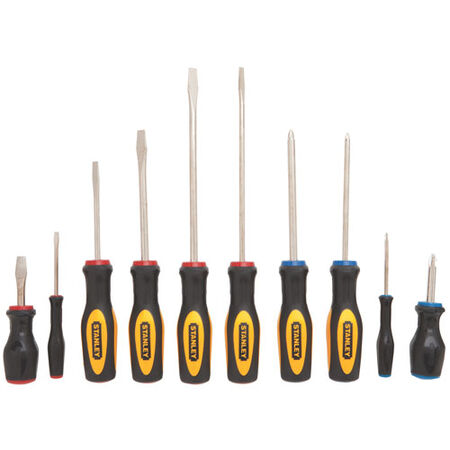 10 pc Standard Fluted Screwdriver Set