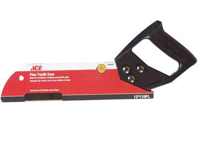 Ace 12 in. L x 16 TPI Steel Fine Cut Pipe Saw Plastic Handle
