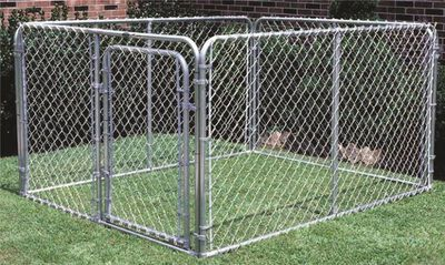 6'x10'x10' complete heavy-duty dog kennel