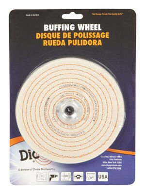 Dico 6 in. Dia. Spiral Sewn Buffing Wheel