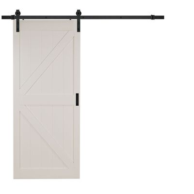 Renin 84 in. H x 36 in. W Wood Off White K-Design Barn Door