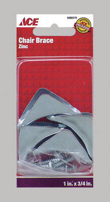 Ace Inside Chair Brace 1 in. x 3/4 in. Zinc