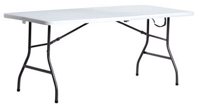 Living Accents 29-1/4 in. H x 30 in. W x 72 in. L Rectangular Fold-in-Half Table