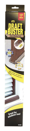 M-D Draft Buster Brown Cloth/Foam Door and Window Seal 3 ft. L x 3-11/32 in.