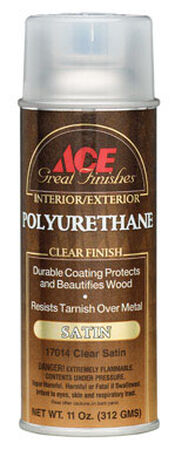 Ace Indoor Clear Satin Polyurethane Spray 11 oz.