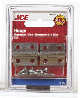 Ace 1 in. L Narrow Hinge Chrome