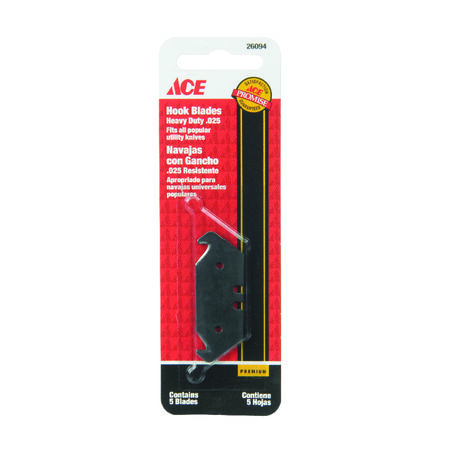 Ace Heavy Duty Hook Blade Utility Knife Replacement Blade 5 pk
