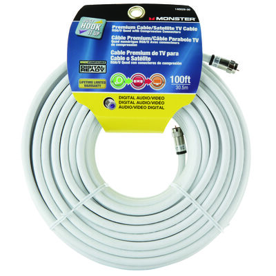 Monster Just Hookit Up 100 ft. ft. L Weatherproof Video Coaxial Cable