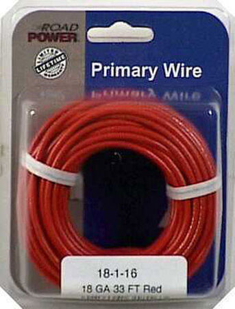 Coleman Cable 33 ft. L Primary Wire 18 Ga. Carded