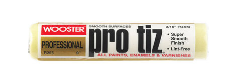 Wooster Pro Tiz Foam Paint Roller Cover 3/16 in. L x 9 in. W