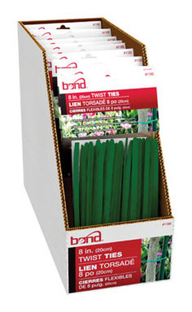 Bond Manufacturing Green Plastic Coated Wire Ties 8 in. L