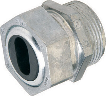 Gampak Sigma Watertight Cable Connector Silver 1 in. Dia. 1
