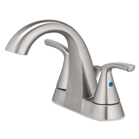 OakBrook Verona Two Handle Lavatory Faucet 4 in. Brushed Nickel