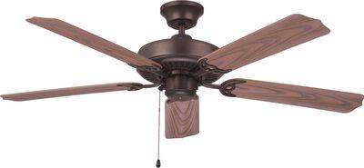 """Ellington Ceiling Fan - Weathered Oak Blades 52"""" Aged Bronze"""