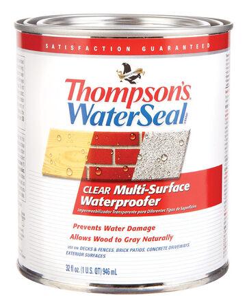 Thompson's Waterseal Water-Based Multi-Surface Waterproofer Clear 1 qt.