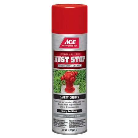 Ace Rust Stop Gloss Safety Red Spray Paint 15 oz.