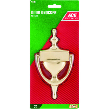 Ace 7 in. L Solid Brass Door Knocker
