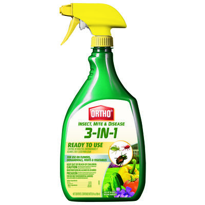 Ortho 3-in-1 Insect Disease & Mite Control For Insects and Fungus 24 oz.