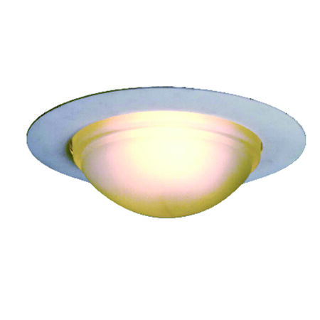 Halo 6 in. W White White Glass Incandescent 6 in. Recessed Lighting Dome Shower Trim