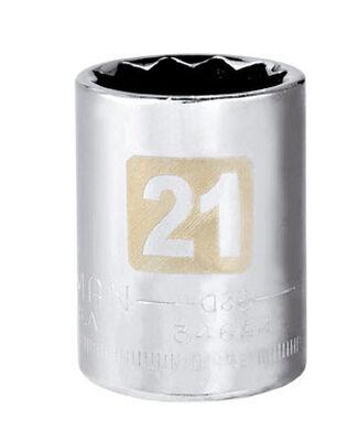 Craftsman 21 Alloy Steel Standard 1/2 in. Drive in. drive Socket