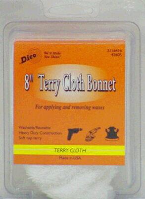 Dico 8 in. Dia. Terry Cloth Terry Cloth Bonnet