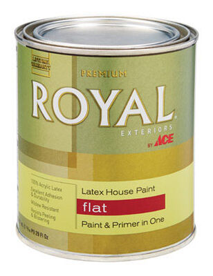 Ace Royal Latex House Paint & Primer Flat 1 qt.