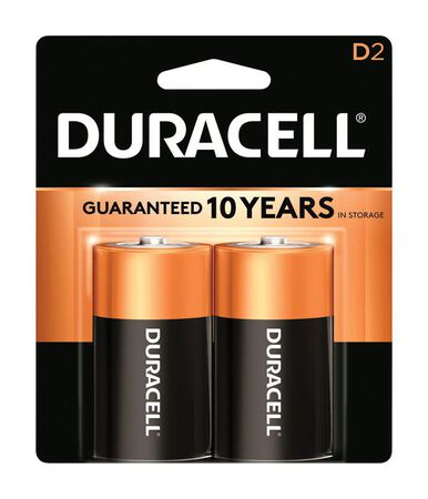 Duracell Coppertop D Alkaline Batteries 1.5 volts 2 pk
