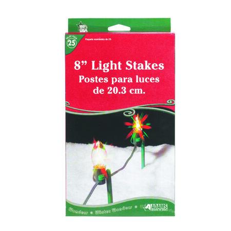 Adams Christmas Light Stakes Clear Plastic 25 pk