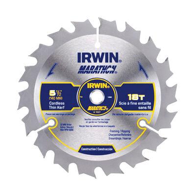 Irwin Marathon Marathon 5-1/2 in. Dia. 18 teeth C3 Carbide Tip For Framing Circular Saw Blade