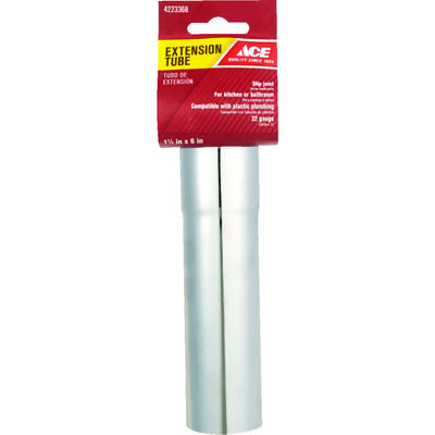 Ace 1-1/2 in. Dia. x 6 in. L Brass Extension Tube
