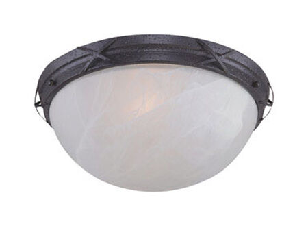 Westinghouse Rust Patina Ceiling Fixture 7-1/8 in. H x 14 in. W
