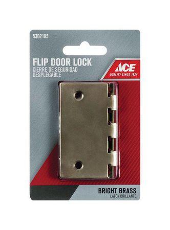 Ace Bright Brass Flip Lock