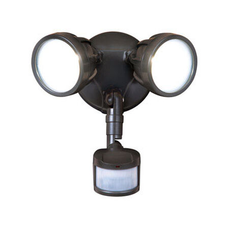 All-Pro Bronze Metal Security Light Motion-Sensing LED 120 volts 20.5 watts