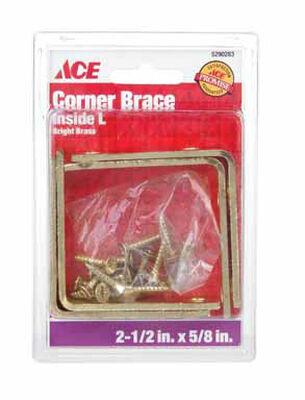 Ace Inside L Corner Brace 2-1/2 x 5/8 in. Brass
